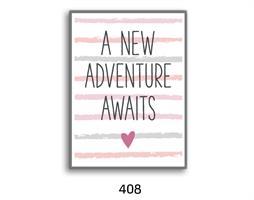 סט של 4 תמונות השראה מעוצבות לתינוקות, לסלון, חדר שינה, מטבח, ילדים - תמונות השראה ''בייבי גירל''