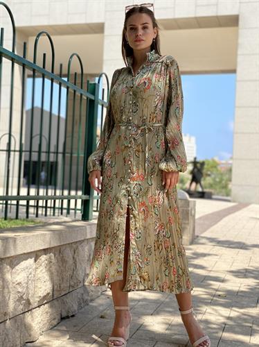 שמלת פליסה זהב