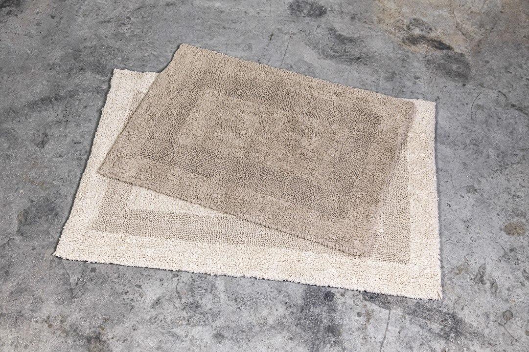 שטיח כותנה קטן - צבע אבן
