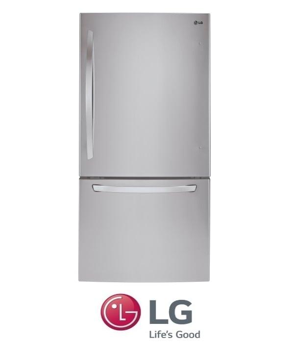 LG מקרר מקפיא תחתון 631 ליטר דגם GM-651RSC נירוסטה
