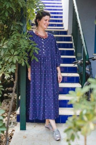 שמלה מדגם דניאלה - סגול עם שוונצים