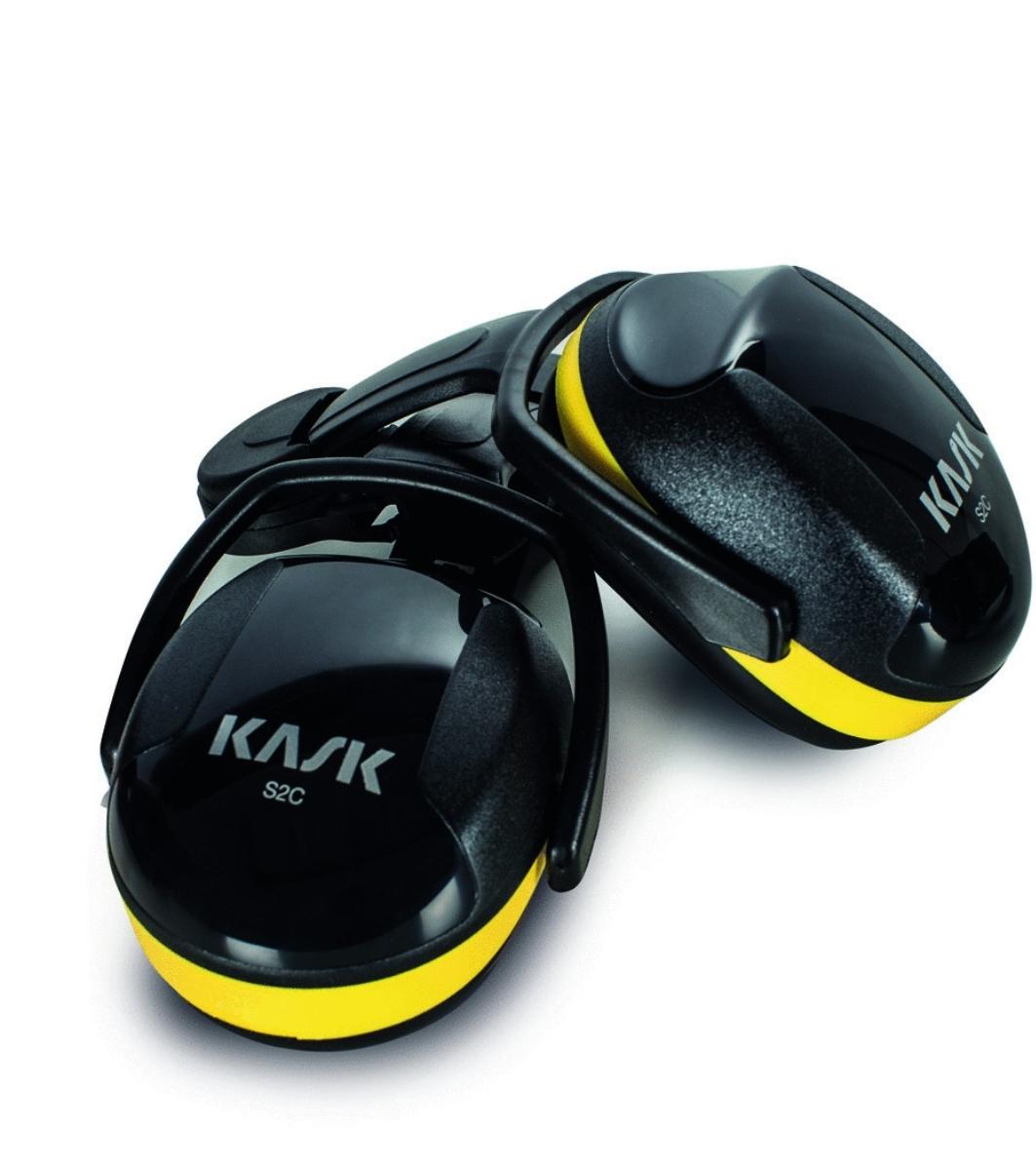 אוזניות מגן לקסדה Kask צהוב