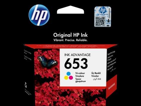 ראש דיו צבעוני מקורי HP 653