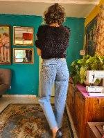 מאם ג'ינס כחול מידה L