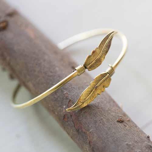 צמיד Gold leaves מבראס