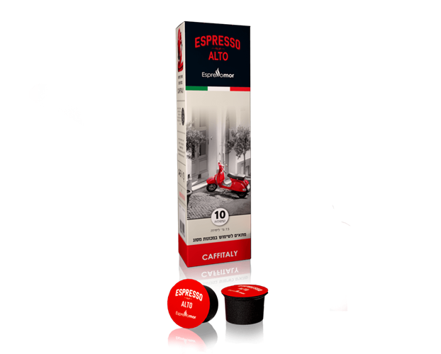 10 קפסולות אספרסו מור Alto תואם קפיטאלי
