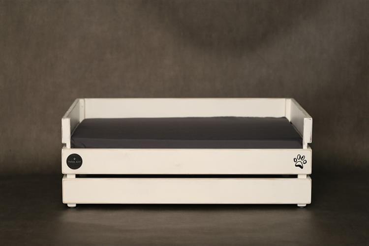 מיטה לכלב - דינגו לבן ווש עם לייסט נוסף M