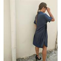 שמלת סול כחול כהה