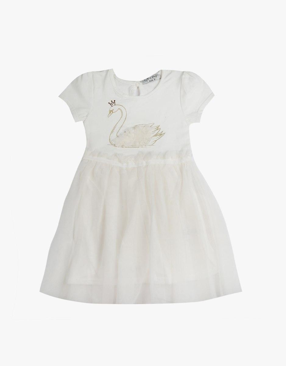שמלה טול עם ברבור לתינוקות