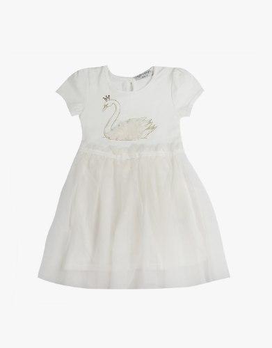 שמלה טול עם ברבור  לבנות