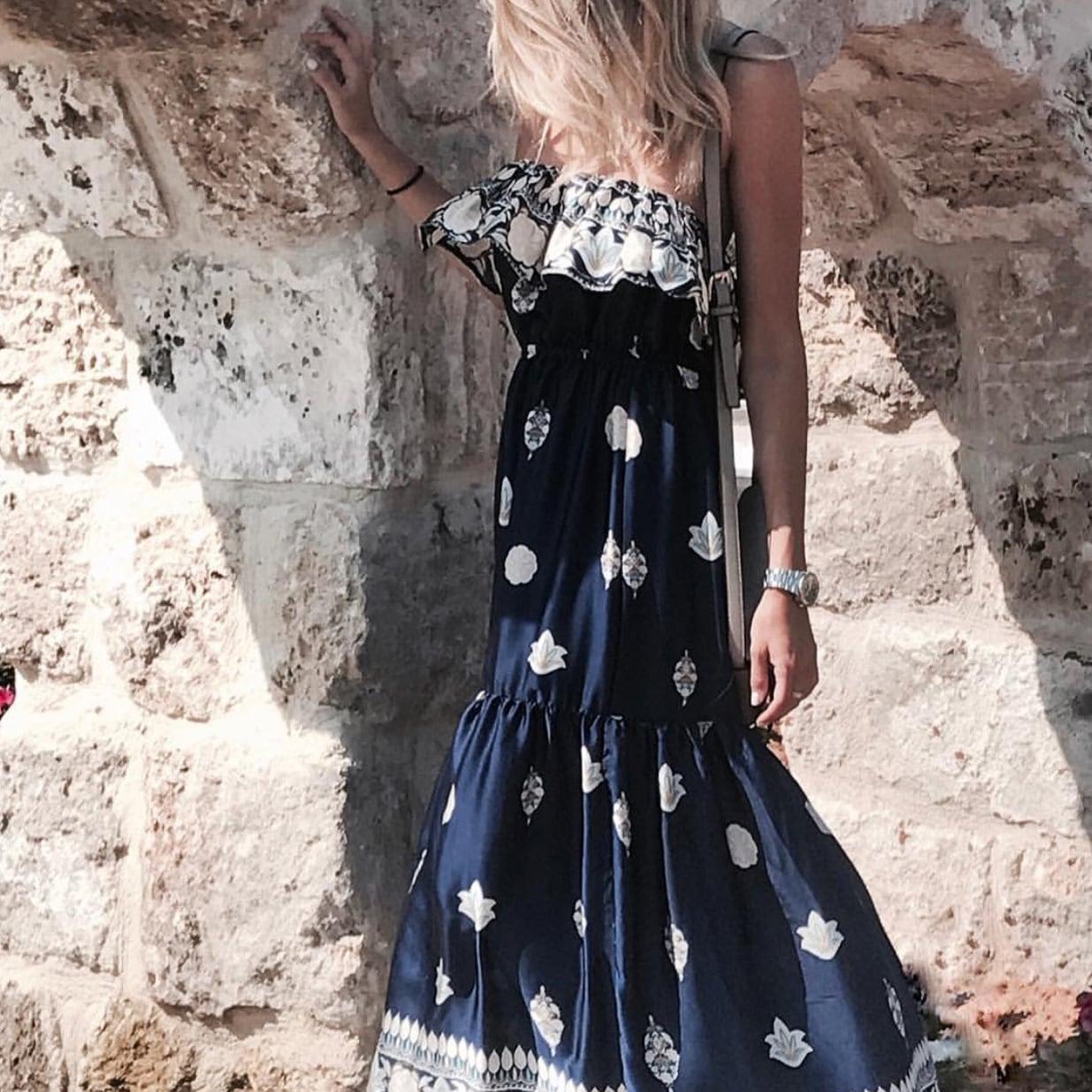 שמלת קליפורניה כחולה