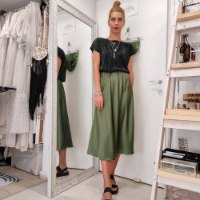 חצאית JENNY - ירוק זית