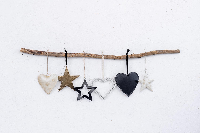 ענף מיקס עם 6 יח' לבבות וכוכבים