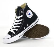 נעלי סניקרס גבוהות  ALL STAR/ CONVERSE אולסטאר שחור יוניסקס