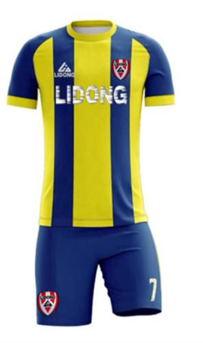 תלבושת מעוצבת צהוב כחול
