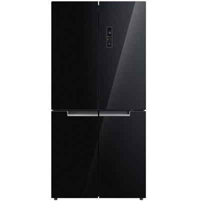 מקרר 4 דלתות NO FROST מקפיא תחתון 506 ליטר תוצרת AMCOR דגם AM4550GB זכוכית שחור