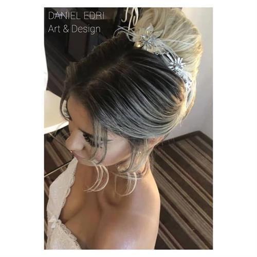 תכשיט שיער נטלי- נוצות ופרחים
