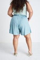 מכנסיי ג׳יה כחול אקווה