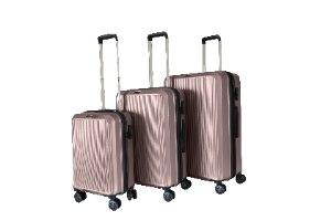 סט 3 מזוודות איכותיות SWISS ALPS - צבע פנינה