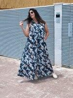 שמלת מנהטן הדפס עלים