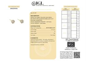 עגילי יהלום מעוטרים 1.23 קראט