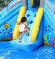 9421 - הפי הופ מגלשת מים happy hop מגיע עם סולם טיפוס - קפיץ קפוץ
