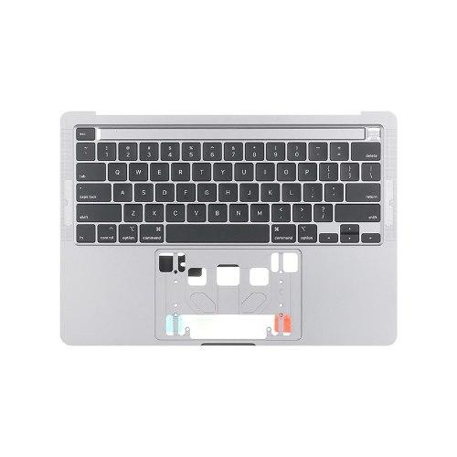 החלפת מקלדת למק כולל חיפוי עליון MacBook Pro 13-Inch 2020 A2289 Topcase US Keyboard