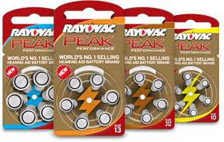 סוללות למכשיר שמיעה Rayovac  אנגליה - מידה 10