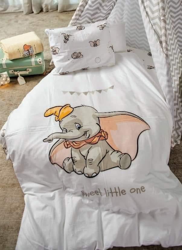 סט מלא למיטת  תינוק דגם דמבו