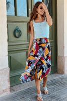 חצאית מעטפת עלים חרדל