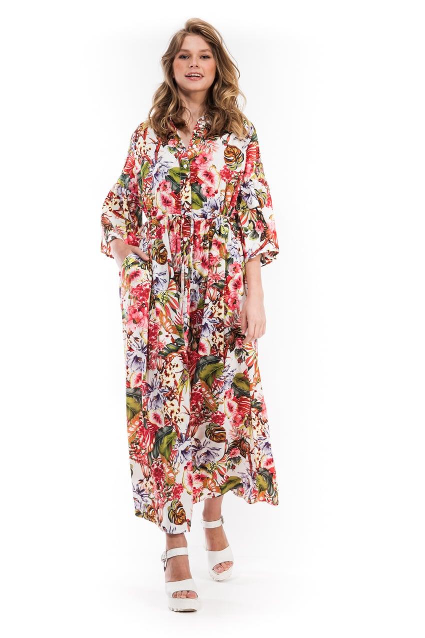 שמלת סבאנה טרופי פרחוני