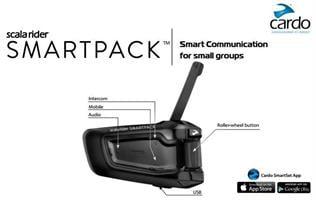 מערכת תקשורת זוגית לקסדה scala rider SMARTPACK DOU