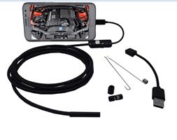 אנדוסקופ Endoscope מצלמת נחש למחשב ואנדרואיד באורך 5 מ'