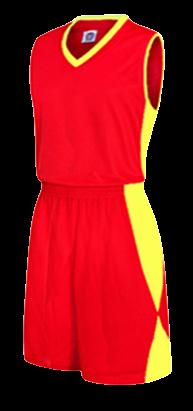 תלבושת כדורסל בעיצוב אישי Red דגם #6013
