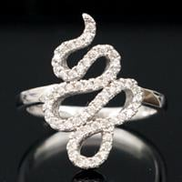 טבעת כסף משובצת זרקונים RG9133