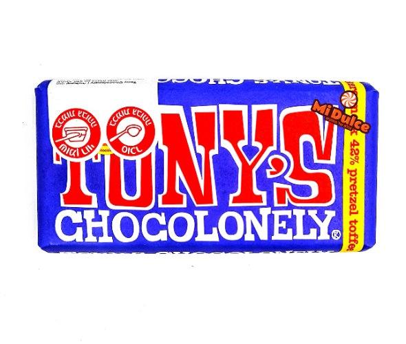 Tony's Chocolonely שוקולד מיקס חלב מריר,בייגלה וטופי (100% free slave)
