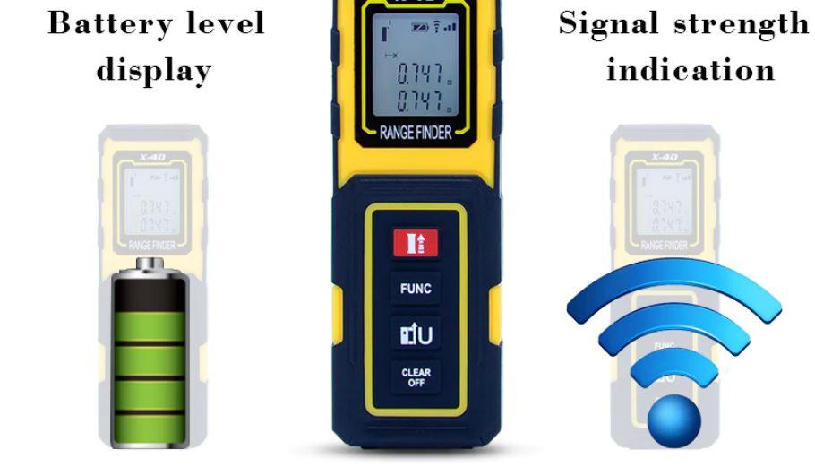 מד לייזר מקצועי למדידת מרחק/נפח/שטח