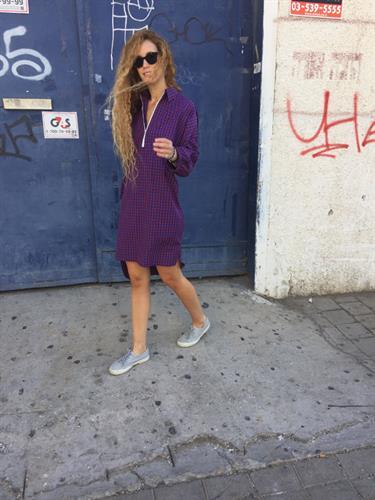 שמלת סלין משבצות