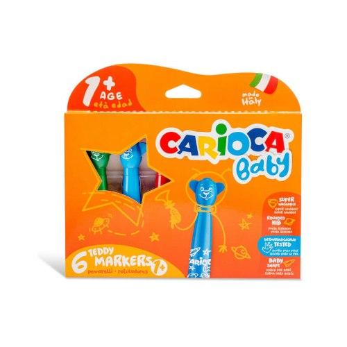 מארז 6 טושים לפעוטות - Carioca Baby