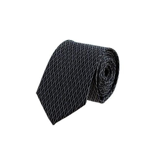 עניבה קלאסית שחורה ארוג