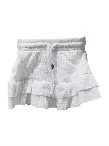 חצאית שכבות לבנה 2-16
