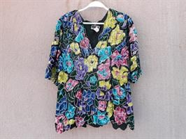 חולצת פייטים מהממת משנות ה-80 מידה L