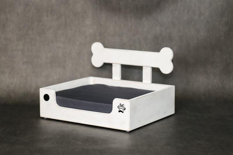 מיטה לכלב - בונזי M לבן ווש