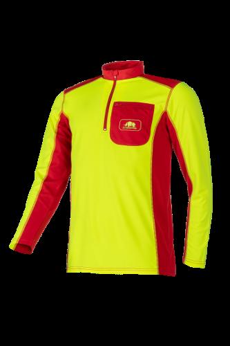 חולצת עבודה שרוול ארוך - Sip צהוב/אדום