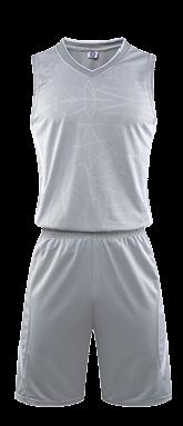 תלבושת כדורסל בעיצוב אישי Gray דגם #6001
