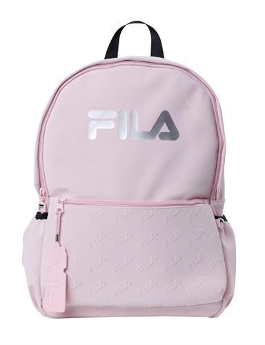 תיק בית ספר ורוד לוגו כסוף גדול - FILA