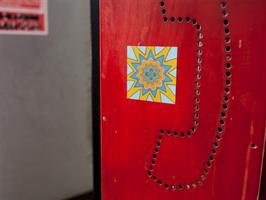 """מגנט אומנותי - מנדלת """"אפריקה"""" - מנדלה מקורית בעבודת יד מודפסת על מגנט"""