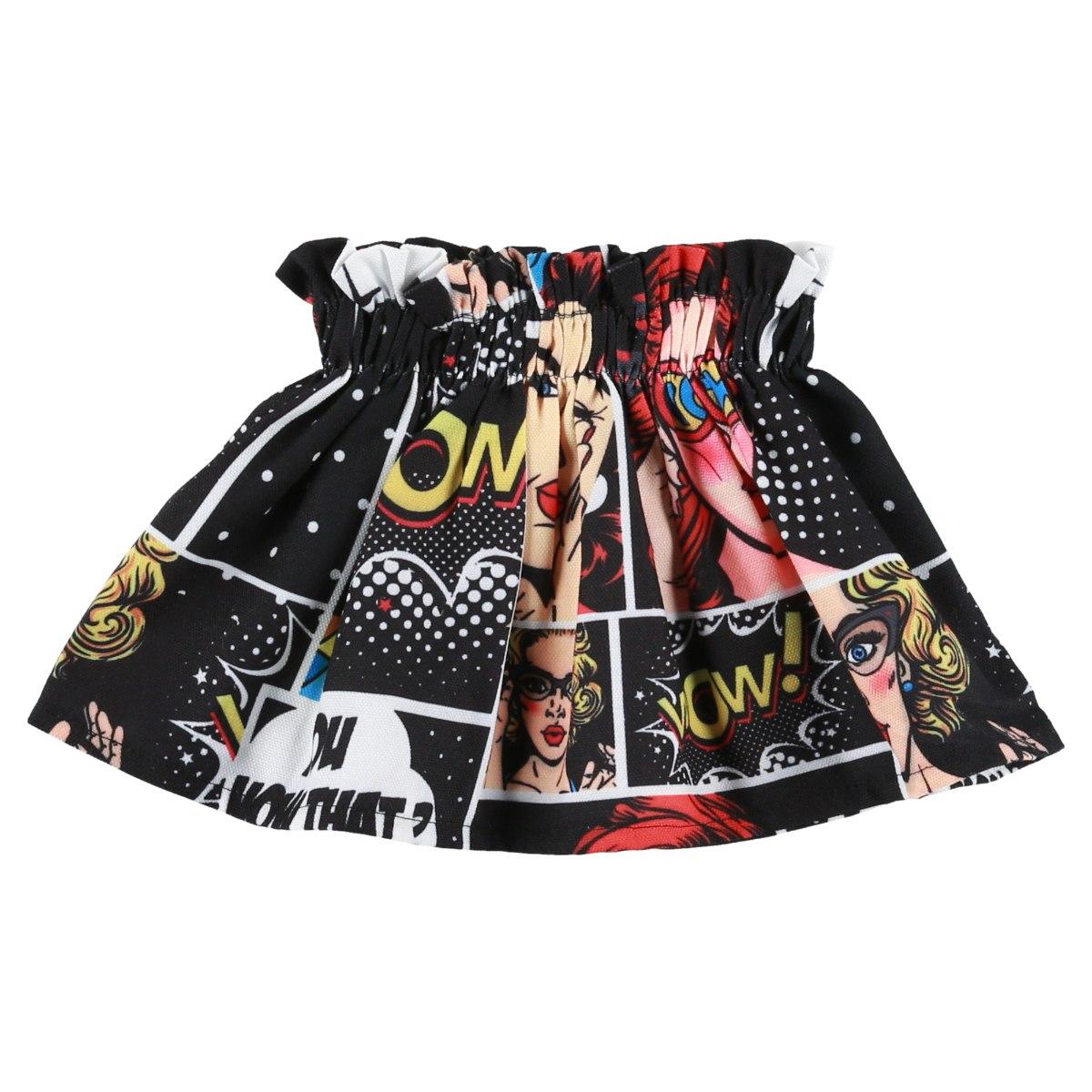 חצאית קומיקס MISS KIDS מידות - 2-16