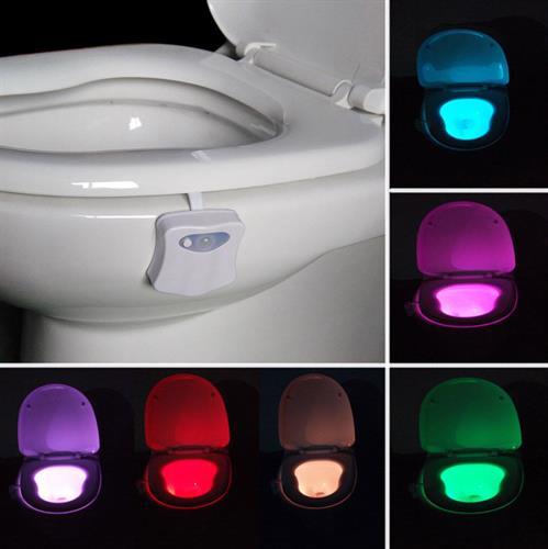 אור לד אוטומטי לשירותים 8 צבעים – המחיר כולל משלוח