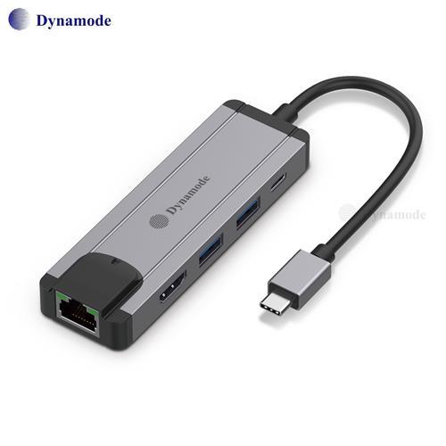מתאם מ Type C תחנת עגינה עם חיבורים, HDMI , LAN 10/100/1000, USB * 2 , Type C